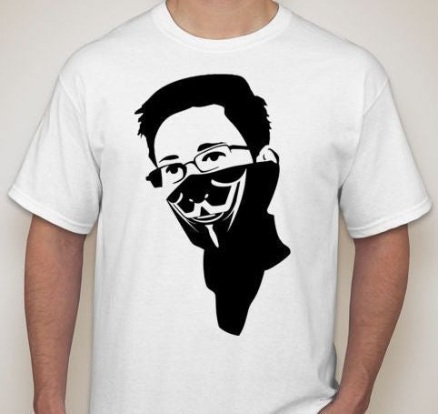 Edward Snowden In Anonymous Bandana T-shirt