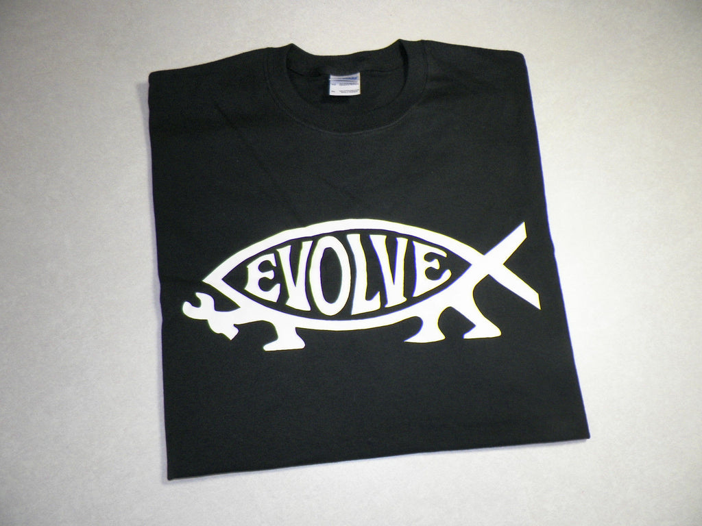 Darwin Fish Evolve Atheist T-shirt  | Blasted Rat