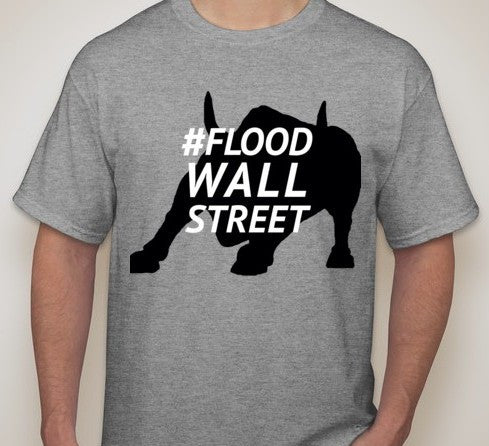 Flood Wall Street Occupy Bull T-shirt | Blasted Rat