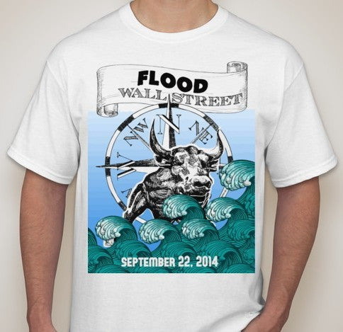 Flood Wall Street September 22 2014 Occupy T-shirt | Blasted Rat
