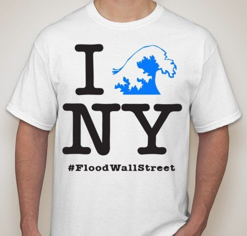 Flood Wall Street NY T-shirt | Blasted Rat