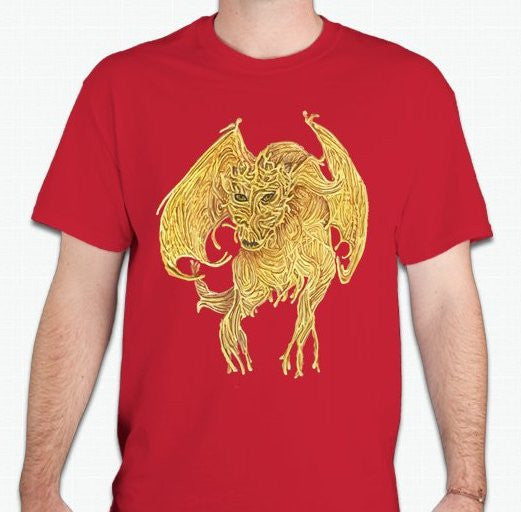 Flying Spaghetti Monster Dragon T-shirt | Blasted Rat