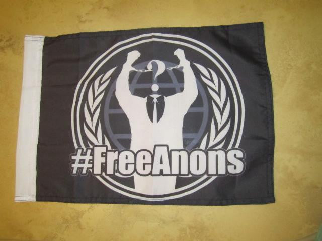 "FreeAnons support 5x4"" Mini Flag"