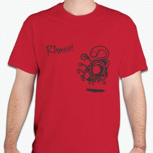 Flying Spaghetti Monster rAmen T-shirt | Blasted Rat