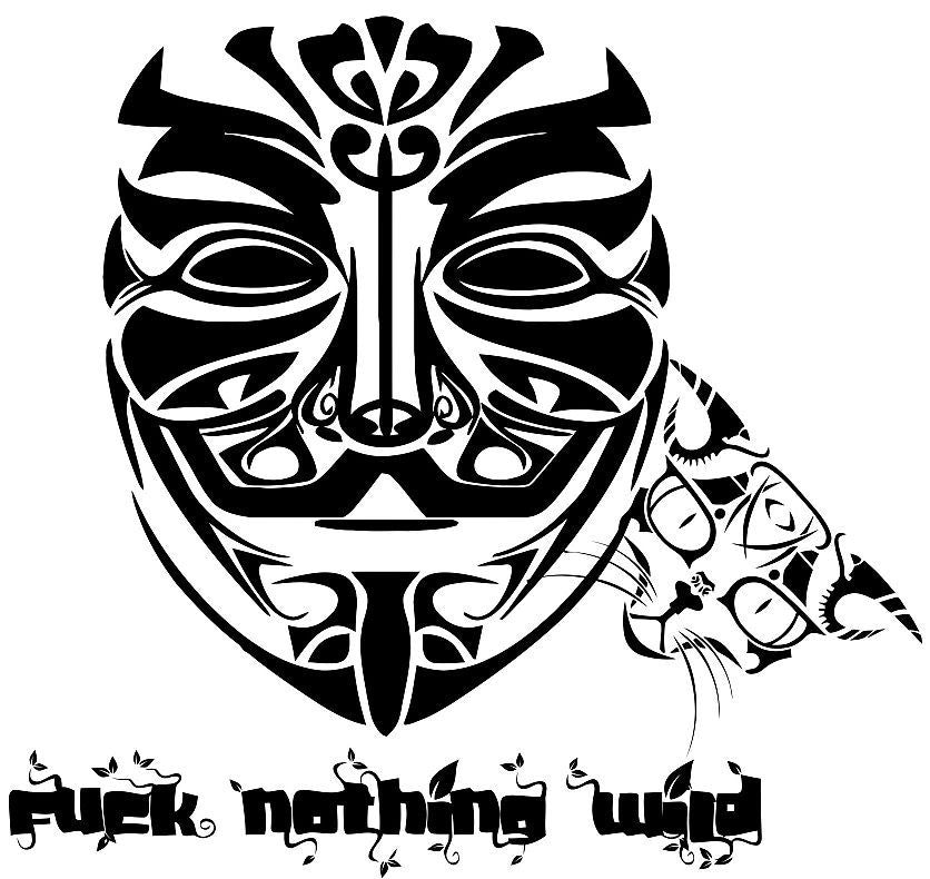 Anonymous Fuck Nothing Wild With Cat #Caturday | Die Cut Vinyl Sticker Decal