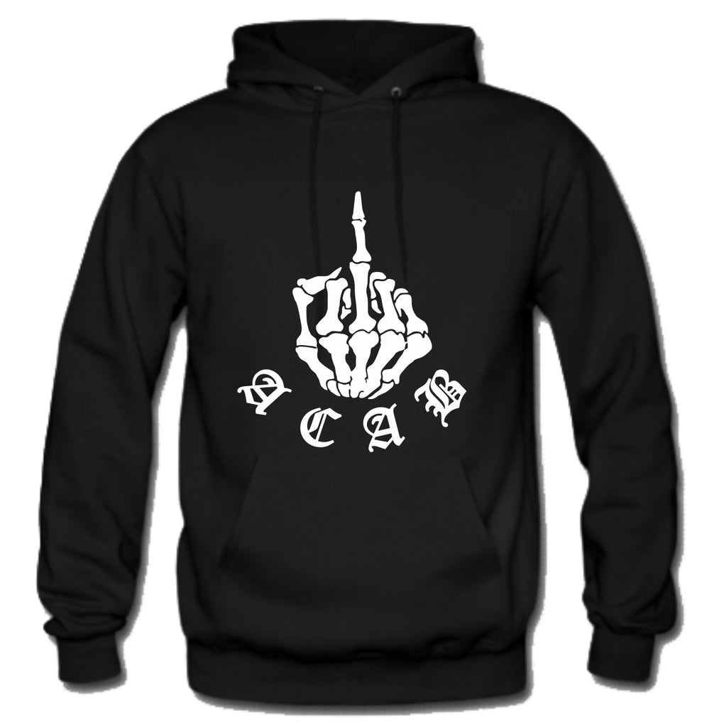 ACAB Fuck You Flip Off Skeleton Finger A.C.A.B. Hoodie