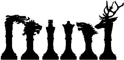 Chess Pieces, Game of Thrones - Die Cut Vinyl Sticker Decal