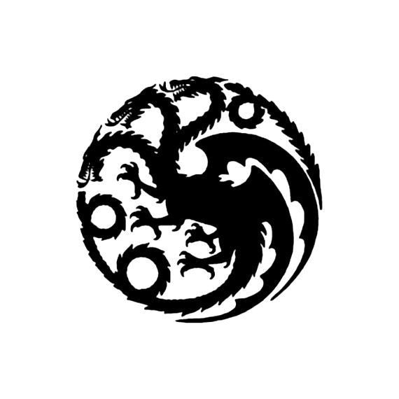 House Targaryen Dragon Logo, Game of Thrones - Die Cut Vinyl Sticker Decal