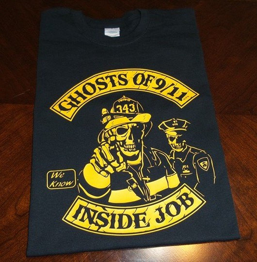 Ghosts of 911 Fireman Policeman T-shirt | Blasted Rat
