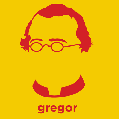 Gregor Mendel - Die Cut Vinyl Sticker Decal