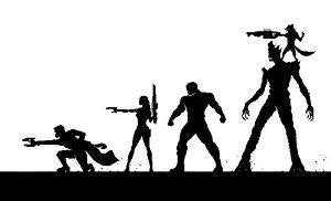 Guardians Of The Galaxy Silhouettes | Die Cut Vinyl Sticker Decal | Blasted Rat