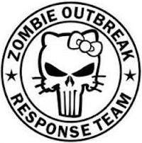 Hello Kitty Zombie Outbreak Response Team | Die Cut Vinyl Sticker Decal | Blasted Rat
