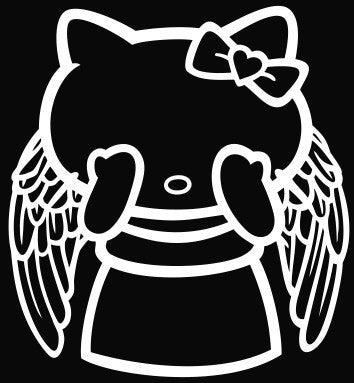 Hello Kitty Doctor Who Weeping Angel Die Cut Vinyl Decal Sticker