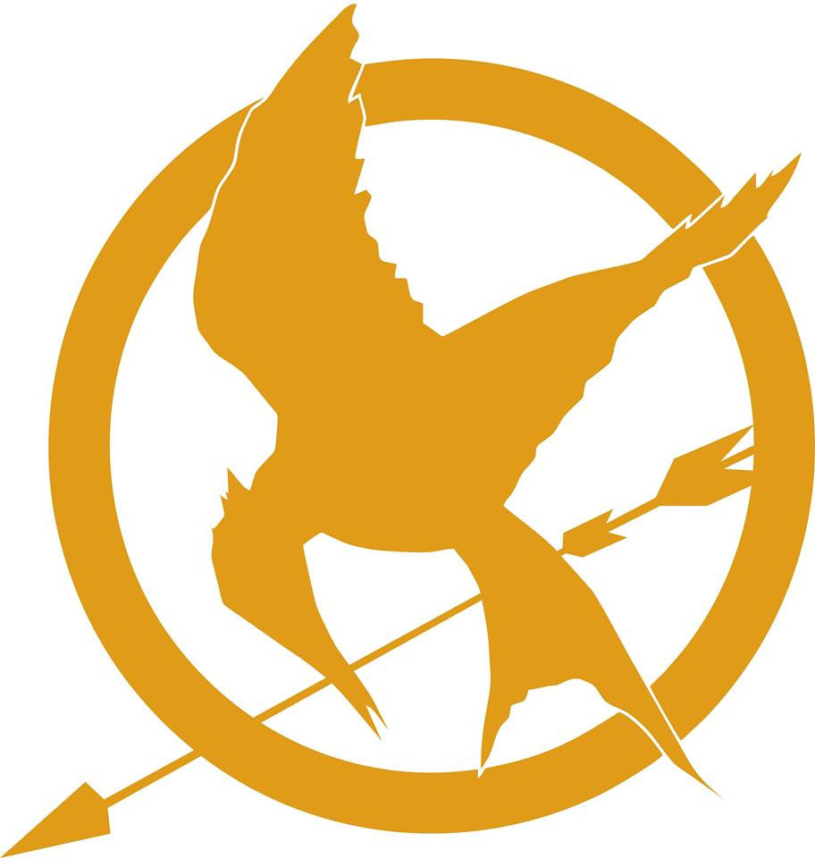 The Hunger Games Saga Logo | Die Cut Vinyl Sticker Decal | Blasted Rat