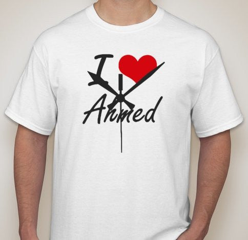 #StandWithAhmed I Love Ahmed Clock T-shirt | Blasted Rat