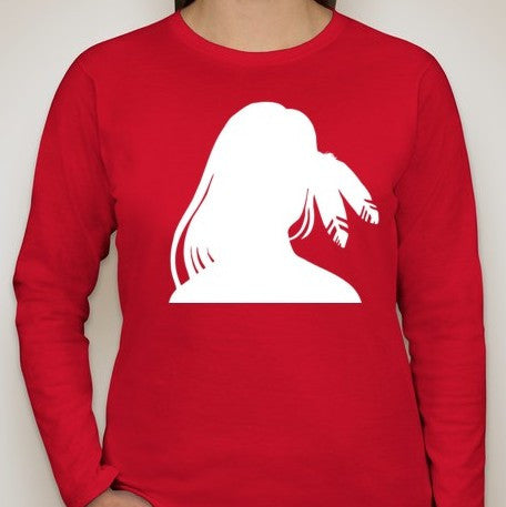 Idle No More Stolen Sisters Women Long Sleeve T-shirt | Blasted Rat