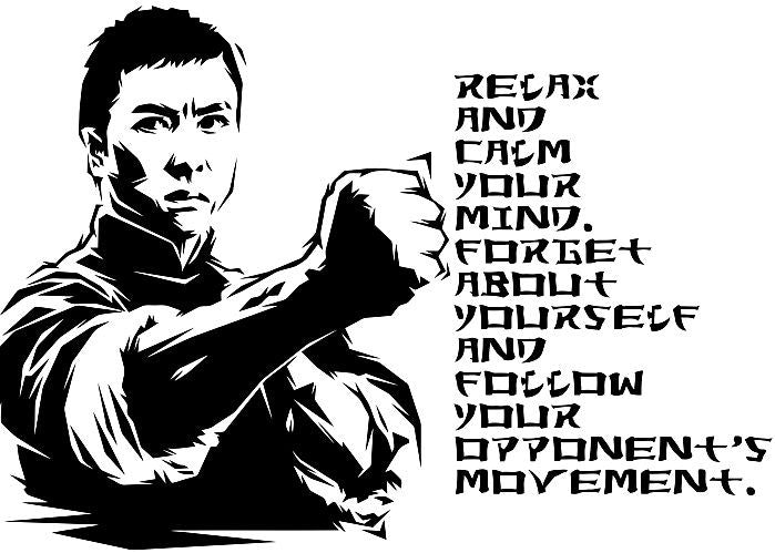 "Ip Man Wing Chun Martial Arts Quote11.5"" Or 23"" Die Cut Vinyl Wall Decal Sticker"