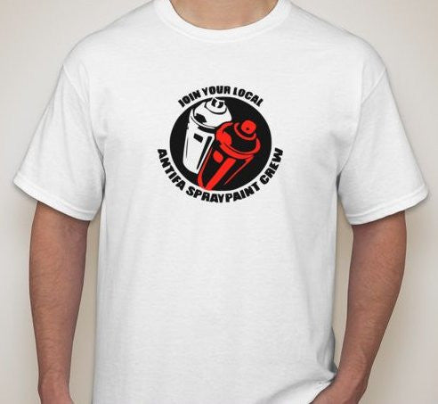 Join Your Local Antifa Spraypaint Crew T-shirt | Blasted Rat