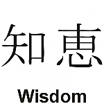 Wisdom Kanji JDM Racing | Die Cut Vinyl Sticker Decal | Blasted Rat