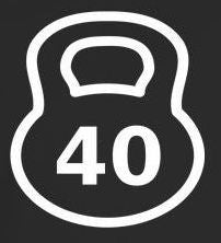 40 Kg Kettlebell Crossfit MMA |  Die Cut Vinyl Sticker Decal