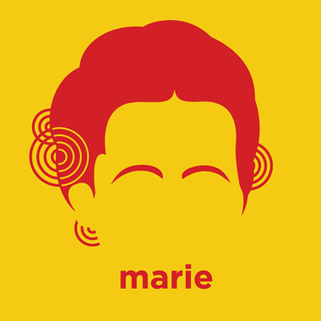 Marie Curie - Die Cut Vinyl Sticker Decal