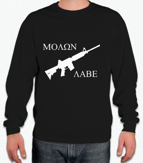Molon Labe AR15 Long Sleeve T-shirt | Blasted Rat