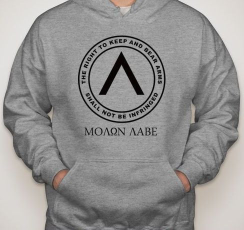 Molon Labe Right To Bear Arms Hoodie | Blasted Rat