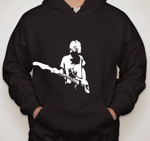 Nirvana Kurt Cobain with Guitar Long Sleeve T-shirt | Blasted Rat