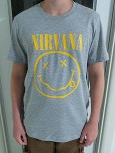 Nirvana Smiley T-shirt | Blasted Rat