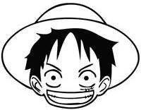 One Piece Monkey D Luffy | Die Cut Vinyl Sticker Decal | Blasted Rat