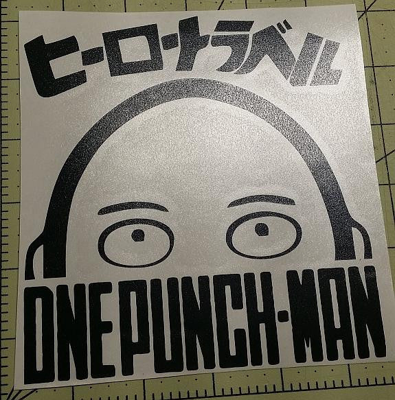 Onepunch Man Logo Manga Die Cut Vinyl Sticker Decal