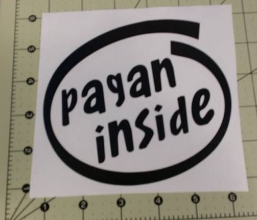 Pagan Inside Viking Wiccan IT Norse |  Die Cut Vinyl Sticker Decal