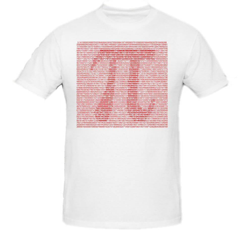 Pi Day π March 14 2015 Red Art T-shirt | Blasted Rat