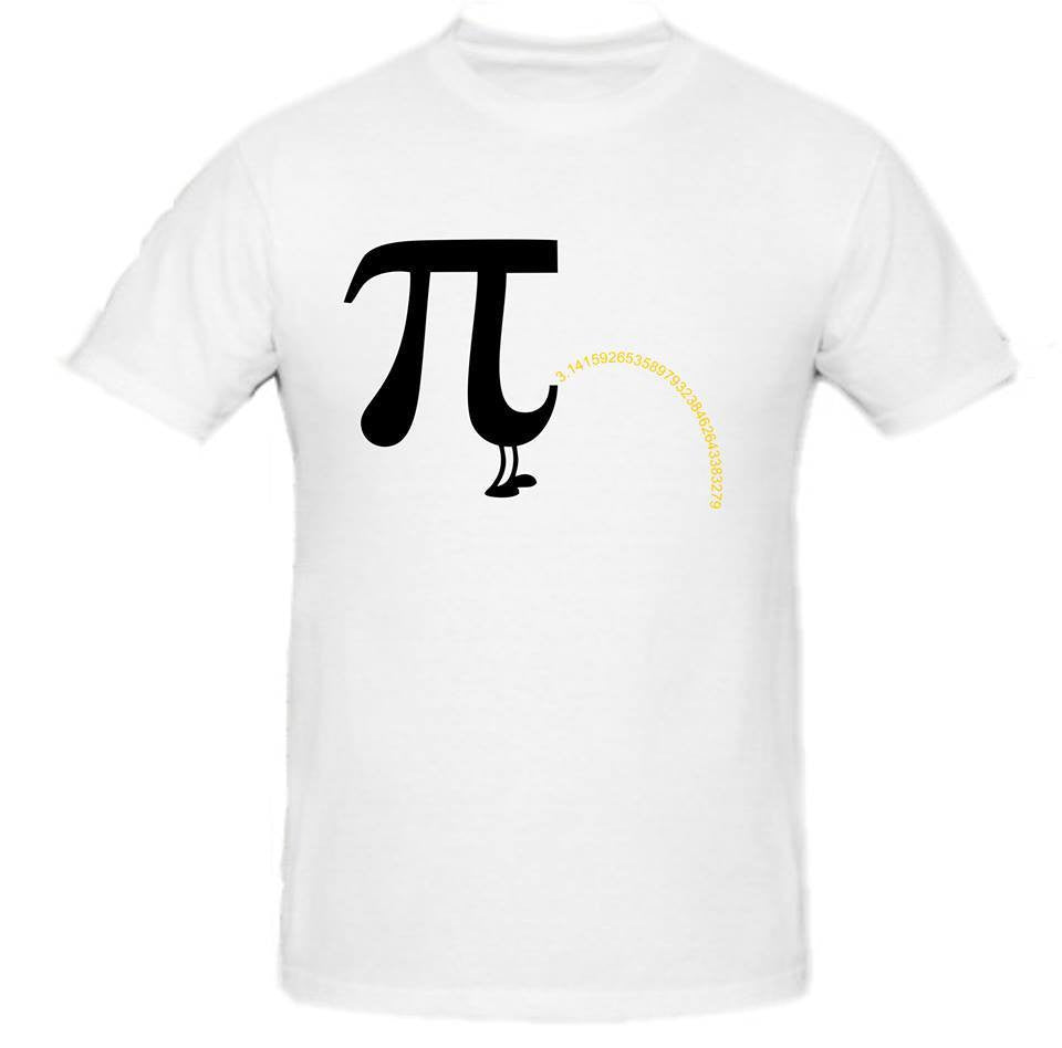 Pi Day π March 14 2015 Pee  Black Art T-shirt | Blasted Rat