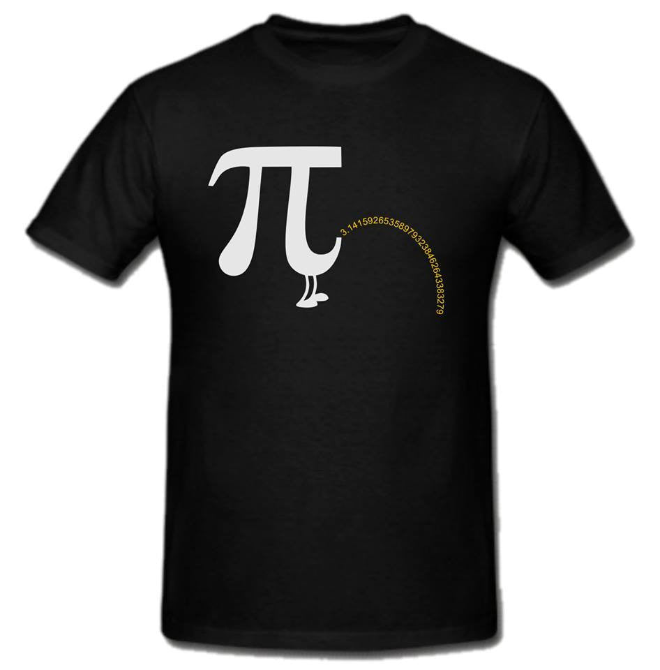 Pi Day π March 14 2015 Pee T-shirt | Blasted Rat