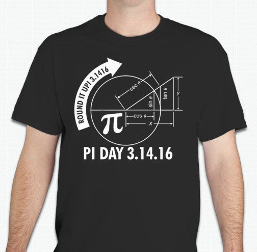 Pi Day π March 14 Science Math Sin Cos Tan T-shirt | Blasted Rat