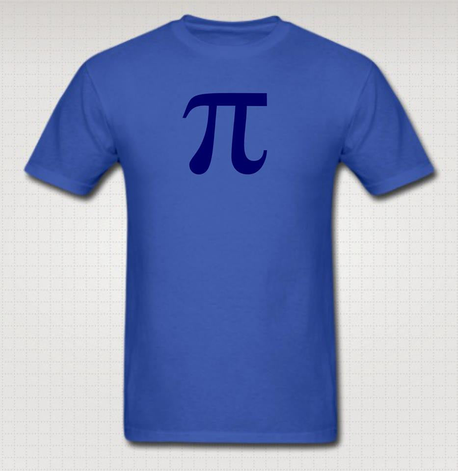 Pi Day π Blue Art T-shirt | Blasted Rat