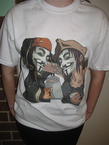 Anonymous Pirate Friends T-shirt | Blasted Rat