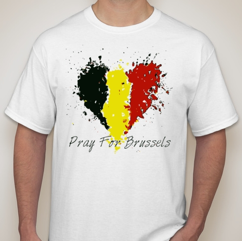 22 March 2016 Pray For Brussels Belgium Terror Attack Bruxelles Airport Metro T-shirt | Blasted Rat