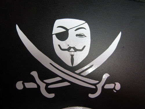 Anonymous Pirate | Die Cut Vinyl Sticker Decal | Blasted Rat