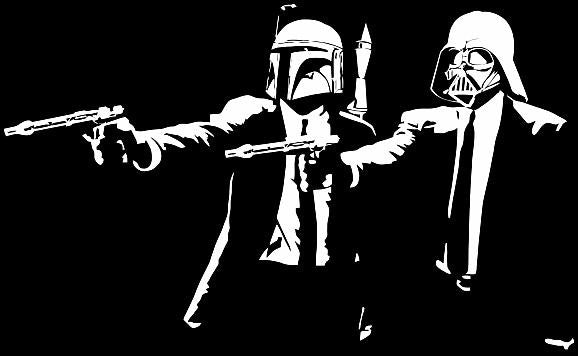 Darth Vader Boba Fett Pulp Fiction | Die Cut Vinyl Sticker Decal | Blasted Rat