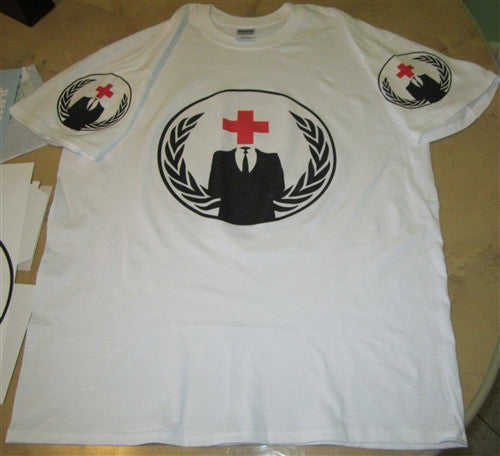 Anonymous Red Cross Street Medics T-shirt | Blasted Rat