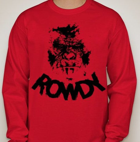 Rowdy Ronda Rousey Roddy Piper MMA WWE Gorilla Planet Of The Apes Long Sleeve T-shirt