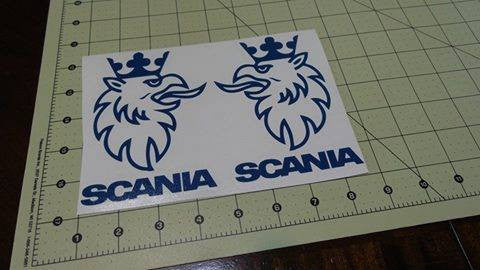 Scania Griffin Logo Set Of 2 | Die Cut Vinyl Sticker Decal | Blasted Rat