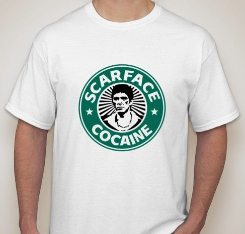 Scarface Al Pacino Cocaine Big Logo T-shirt | Blasted Rat
