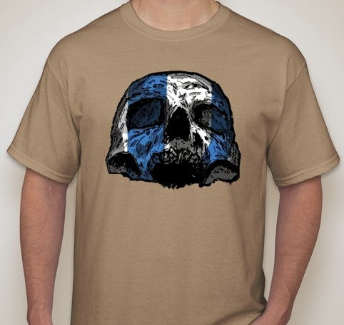 Scottish Independence William Wallace Skull T-shirt | Blasted Rat