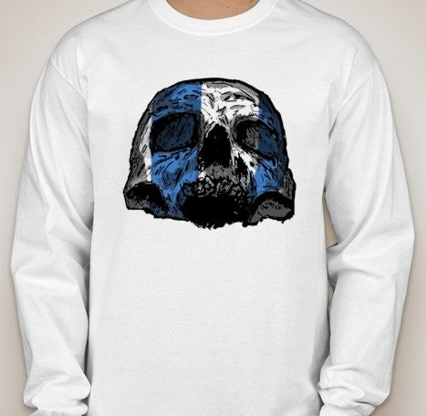 Scottish Independence William Wallace Skull Long Sleeve T-shirt | Blasted Rat