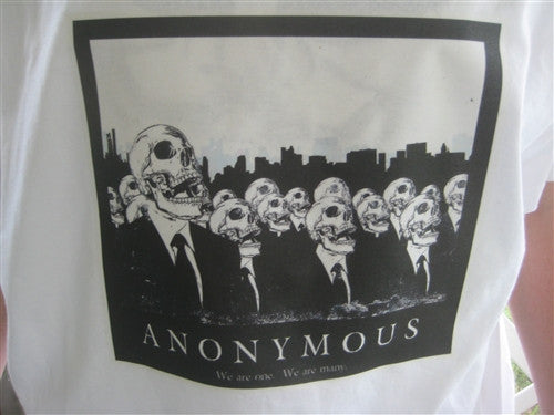Anonymous We Are One | We Are Many Skulls T-shirt | Blasted Rat