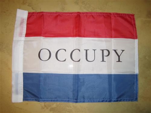 Occupy protest movement 99% Hand Flag 15×12″