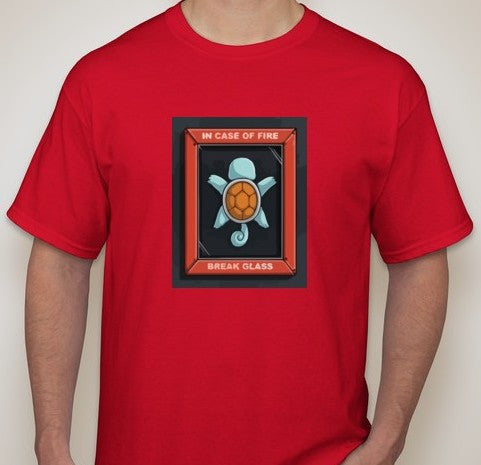 Pokemon Squirtle in Case of Fire Break Glass T-shirt | Blasted Rat